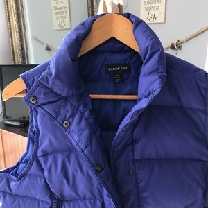 Fitted Land's End Down Vest  Large with Pockets